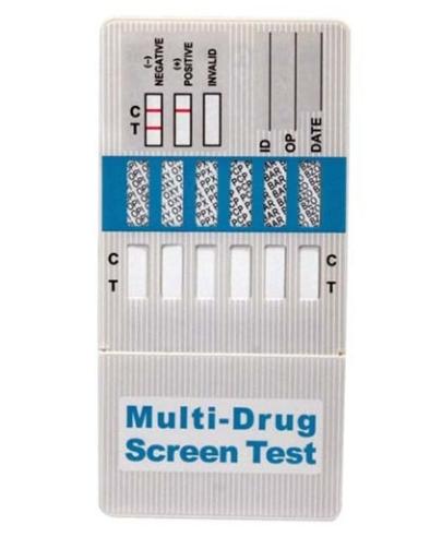 Momentinis narkotikų testas (panardinamas) 5 rūšių narkotikams aptikti (25 vnt)