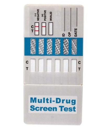 Momentinis narkotikų testas (panardinamas), aptikti 6 narkotikų rūšis