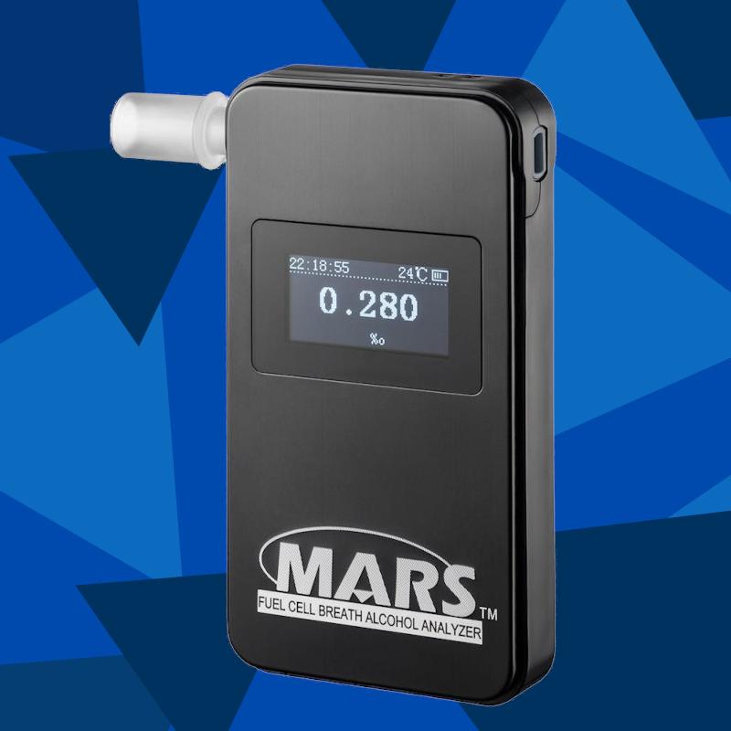 Elektrocheminis alkotesteris Alcovisor® MARS BT   + DOVANA - 10 vienkartinių antgaliukų  (pridedama prie standartinės komplektacijos)  + 1 NEMOKAMAS alkotesterio kalibravimas  vos 162 Eur!